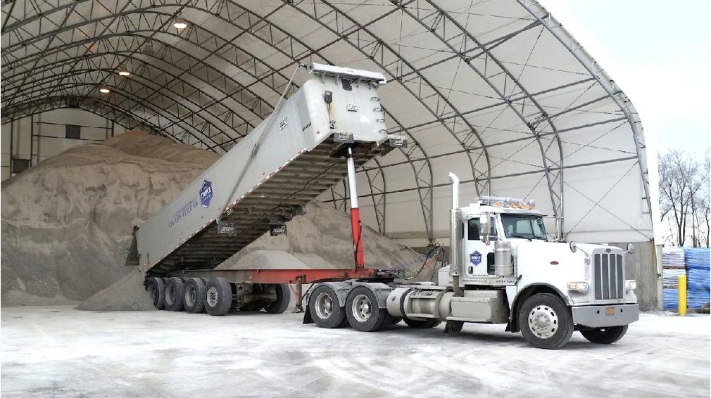 Duke Rentals The Duke Company's Bulk Rock Salt and Road Salt - Salt Barn in Rochester NY