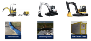 Rent Excavators and Buy Erosion Control Blankes - Duke Company - Rochester, Ithaca, Auburn and Dansville NY
