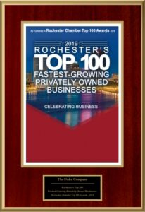 Duke Rentals and The Duke Company - Proud to Be Named to Rochesters Top 100 Fastest Growing Privately Owned Businesses - Equipment Rental, Building Supplies, Concrete Forms