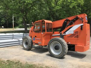 Rent a Powerful 8,000 Pound Reach Forklift in Upstate New York | JLG 8042 SkyTrak Telehandler from The Duke Coimpany and Duke Rentals