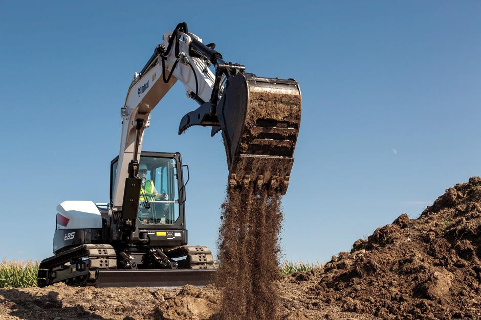 Specification Highlights - Bobcat E85 Compact Excavator Rental