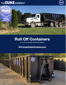 Duke Rentals - Helpful Information -  Roll Off Container Rental & Roll-Off Dumpster Rental